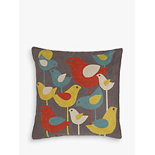 Buy John Lewis Koltrast Bird Cushion, Multi Online at johnlewis.com