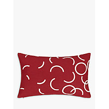 Buy House by John Lewis Hula Cushion, Burgundy Online at johnlewis.com