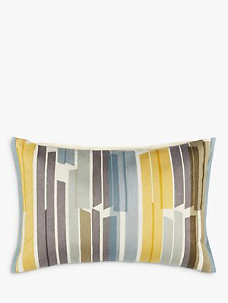 John Lewis & Partners Ingrid Cushion, Citrine / Khaki