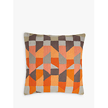 Buy John Lewis Stack Cushion, Orange / Grey Online at johnlewis.com