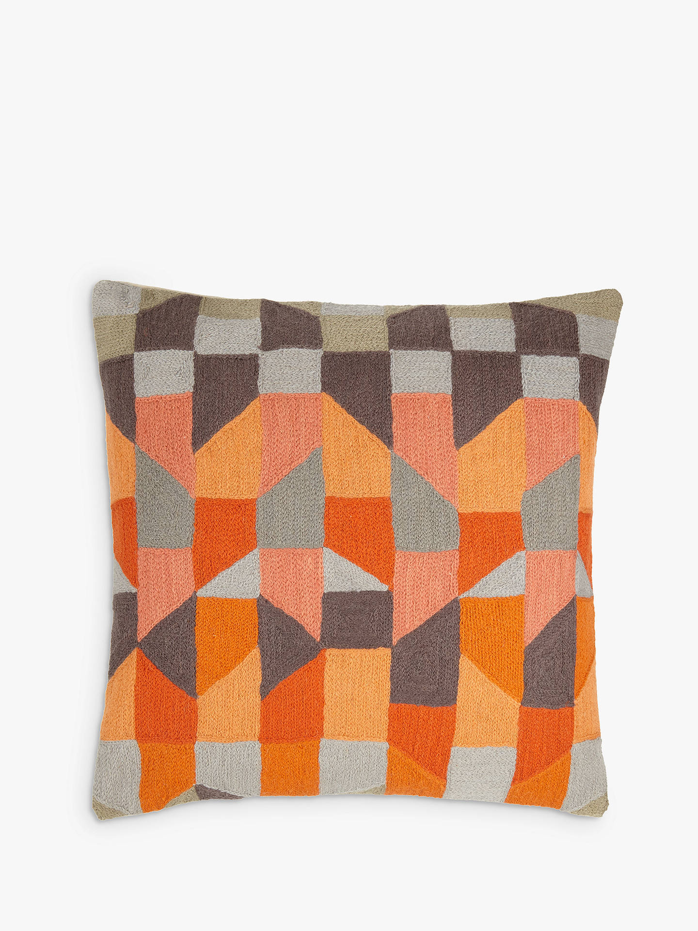 john lewis partners stack cushion orange grey at john. Black Bedroom Furniture Sets. Home Design Ideas