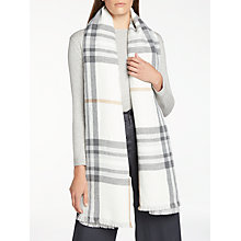 Buy John Lewis Double Faced Cashmink Classic Check Wrap, Grey Mix Online at johnlewis.com