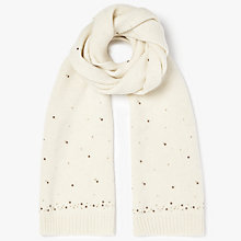 Buy John Lewis Multi Studded Scarf, Cream Online at johnlewis.com