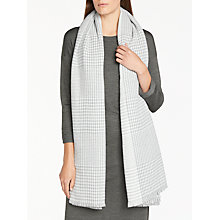 Buy John Lewis Dogtooth Scarf, Light Grey Online at johnlewis.com