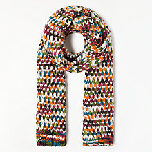 Buy John Lewis Big Multi Stitch Scarf, Multi Online at johnlewis.com