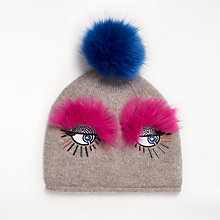 Buy John Lewis Fur Friend Beanie Hat, One Size, Grey Online at johnlewis.com