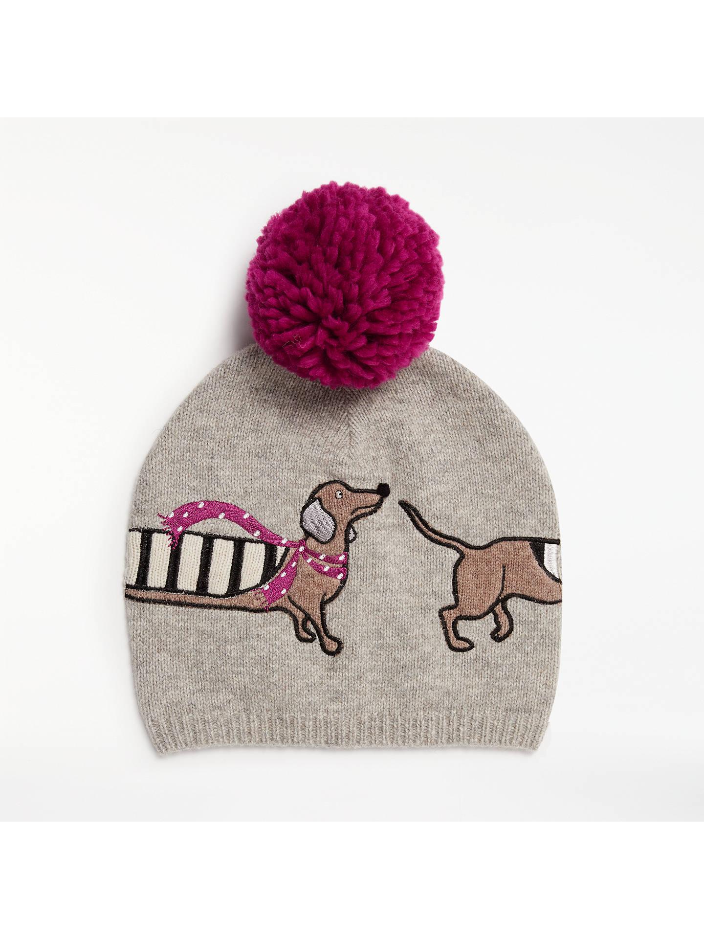 af24c641dd5 John Lewis   Partners Sausage Dog Wool Blend Pom Pom Beanie Hat ...