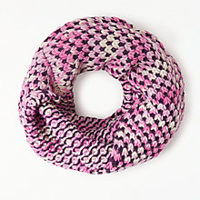 Buy John Lewis Multi Stitch Snood, Pink Online at johnlewis.com