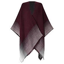 Buy John Lewis Cashmink New Ruana Cape, Burgundy Mix Online at johnlewis.com