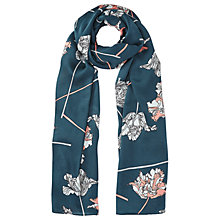 Buy Jigsaw Dancing Tulip Silk Scarf, Blue Online at johnlewis.com