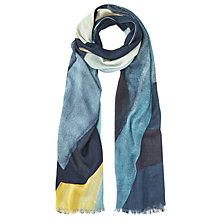 Buy Jigsaw Deconstructed Typo Scarf, Blue/Multi Online at johnlewis.com
