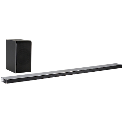 Image of LG SJ8 Wi-Fi Bluetooth Sound Bar with Wireless Subwoofer, High Resolution Audio & Chromecast Built-in, Black