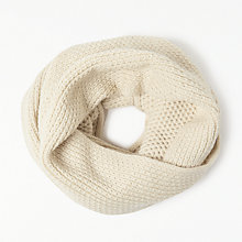 Buy John Lewis Pearl Stitch Snood, One Size, Cream Online at johnlewis.com