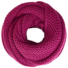 Buy John Lewis Purl Stitch Snood, Magenta Online at johnlewis.com