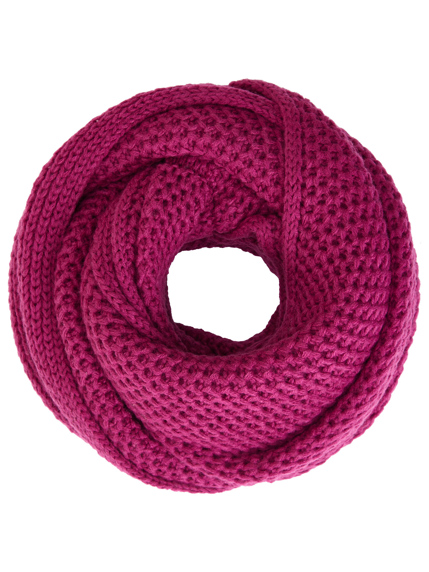 BuyJohn Lewis Purl Stitch Snood, Magenta Online at johnlewis.com