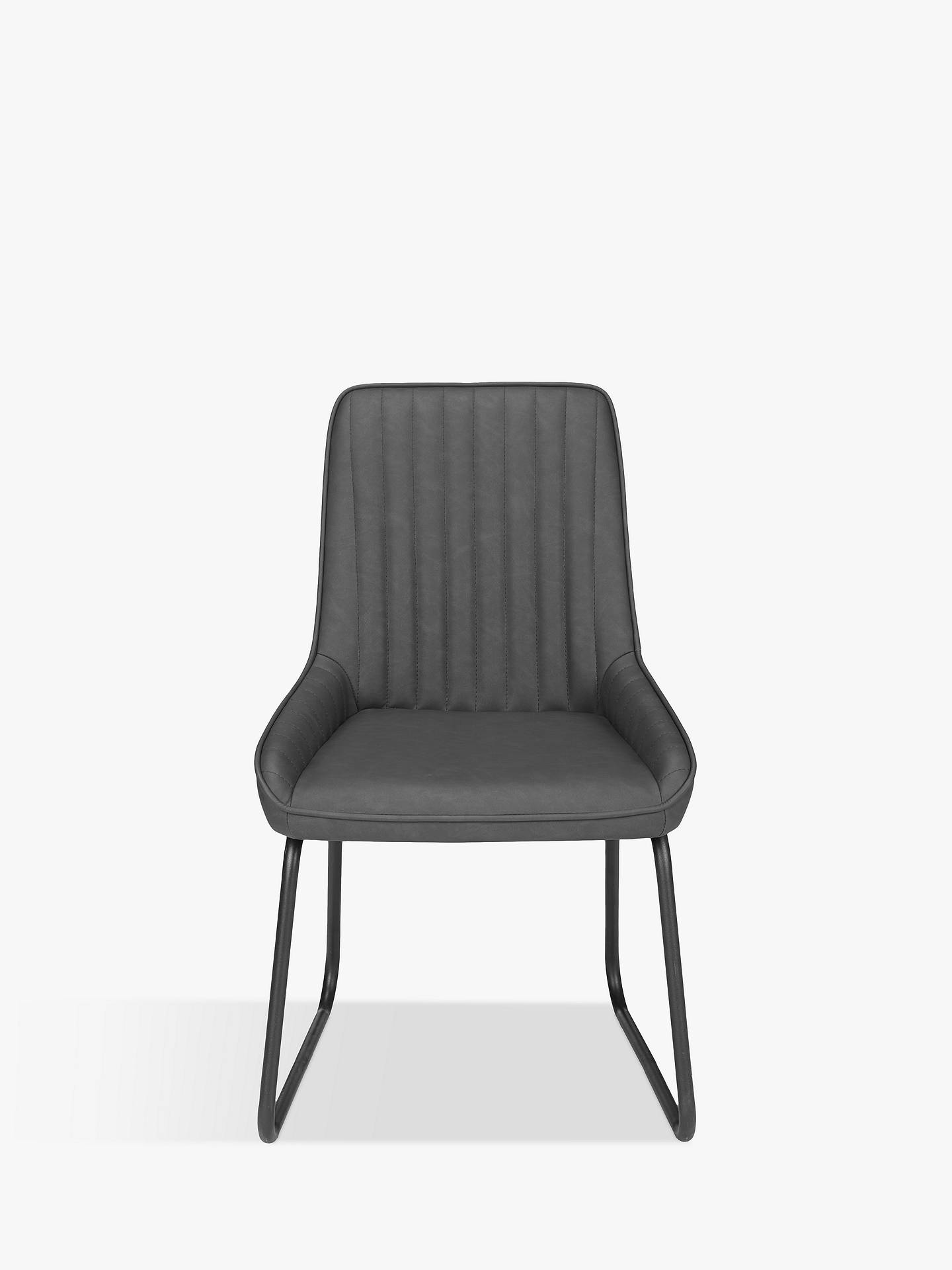 John Lewis & Partners Brooks Side Dining Chairs, Set of 8, Charcoal