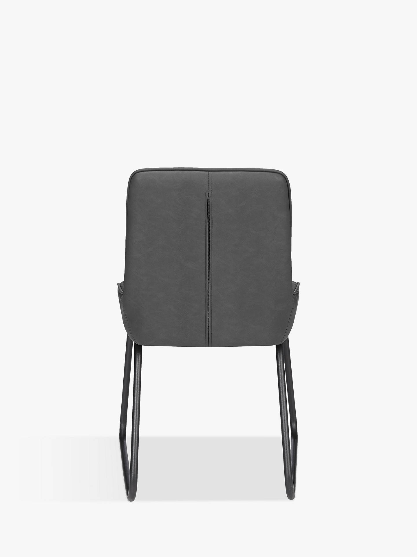 John Lewis & Partners Brooks Side Dining Chairs, Set of 2, Charcoal