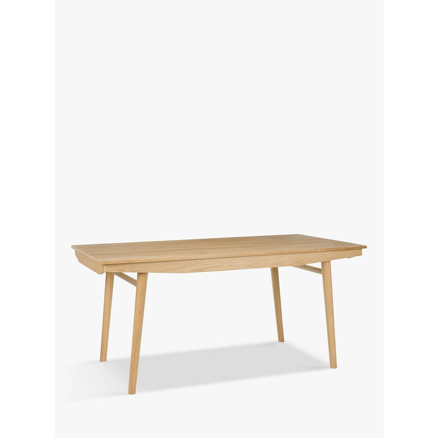 House by John Lewis Bow 6-8 Seater Extending Dining Table at John Lewis