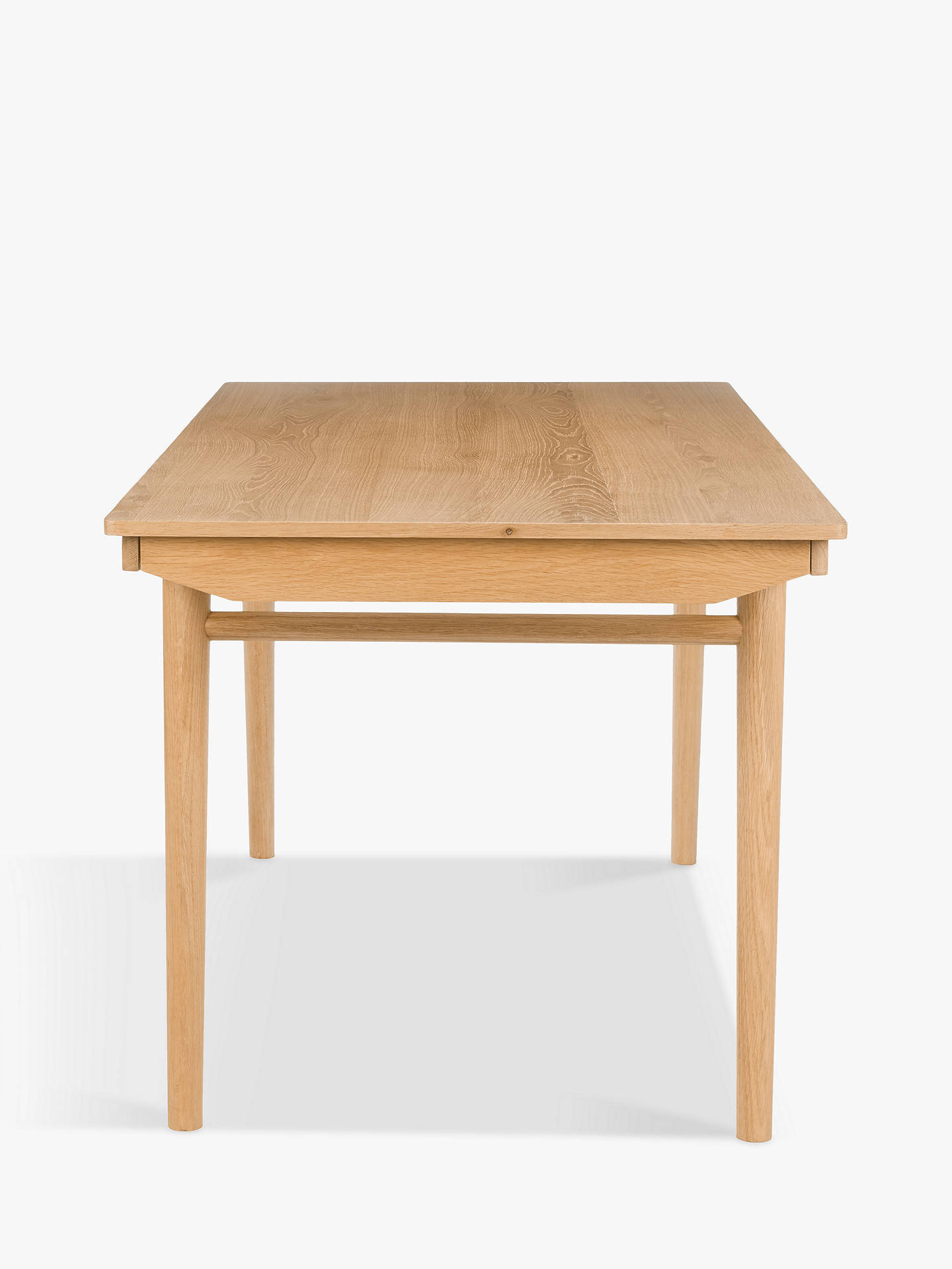 Buy House by John Lewis Bow 6-8 Seater Extending Dining Table, Oak Online at johnlewis.com