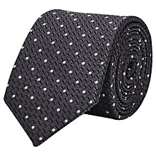 Buy Reiss Klamm Dotted Woven Silk Tie, Charcoal Online at johnlewis.com