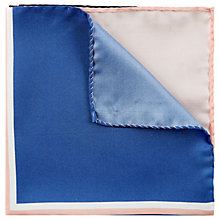 Buy Jaeger Silk Colourblock Pocket Square Online at johnlewis.com
