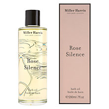 Buy Miller Harris Rose Silence Bath Oil, 250ml Online at johnlewis.com