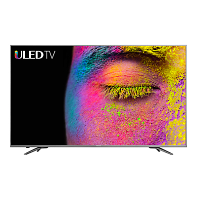 Hisense H50N6800 ULED HDR 4K Ultra HD Smart TV, 50 with Freeview Play, Dark Grey