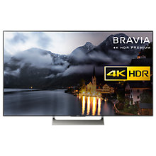 "Buy Sony Bravia 49XE9005 LED HDR 4K Ultra HD Smart Android TV, 49"" with Freeview HD & Youview + FREE HT-CT290 Sound Bar with Subwoofer Online at johnlewis.com"