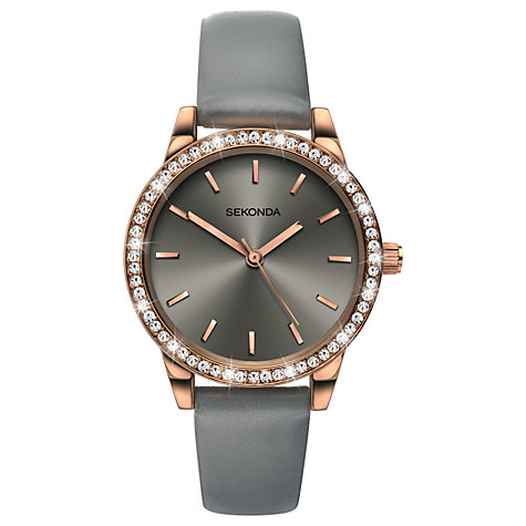 women s watches ladies watches john lewis buy sekonda women s crystal leather look strap watch online at johnlewis com
