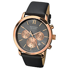 Buy Sekonda Men's Chronograph Date Leather Strap Watch Online at johnlewis.com