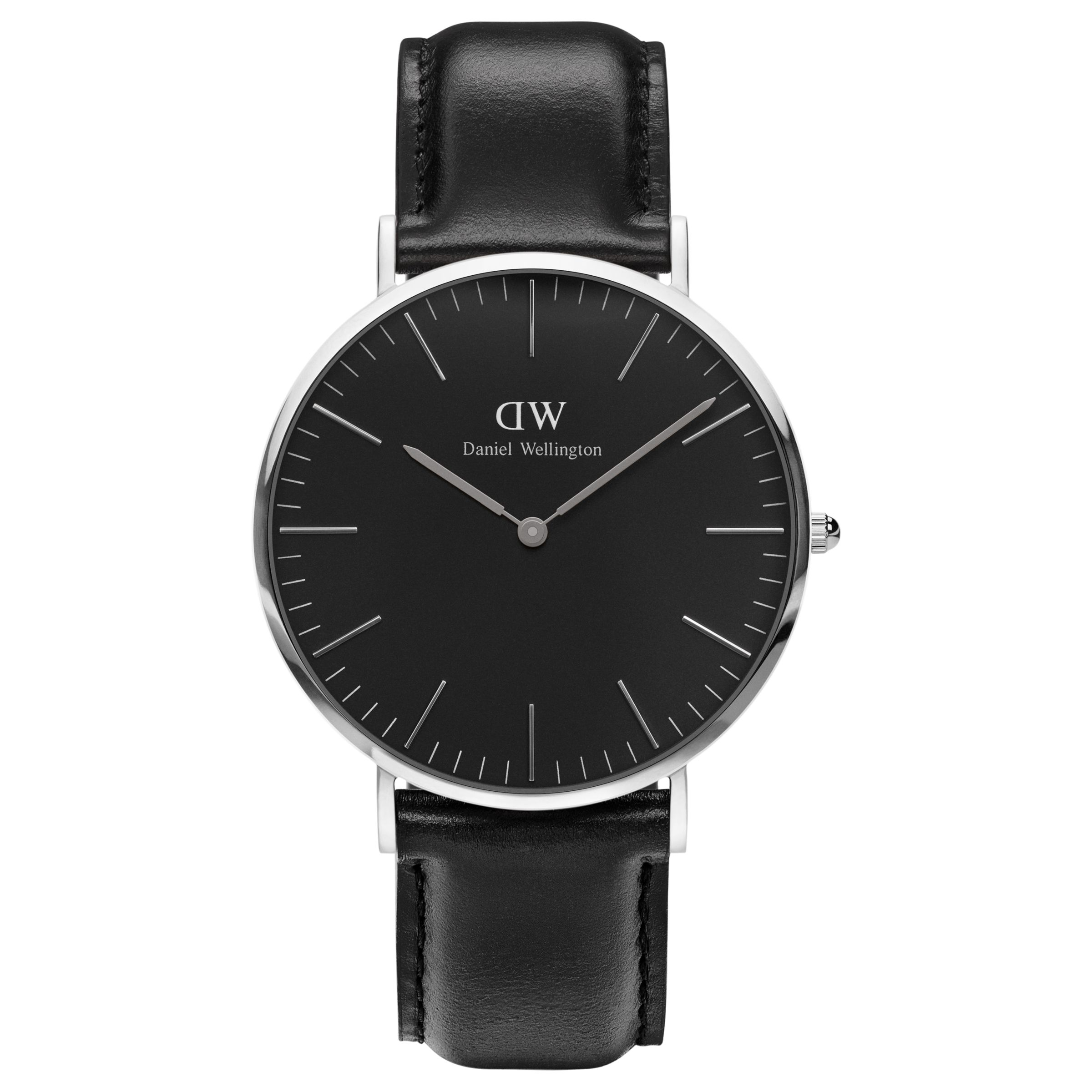 Daniel Wellington Daniel Wellington Unisex 40mm Sheffield Leather Strap Watch