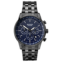 Buy Sekonda 1376.27 Men's Chronograph Date Bracelet Strap Watch, Black/Navy Online at johnlewis.com