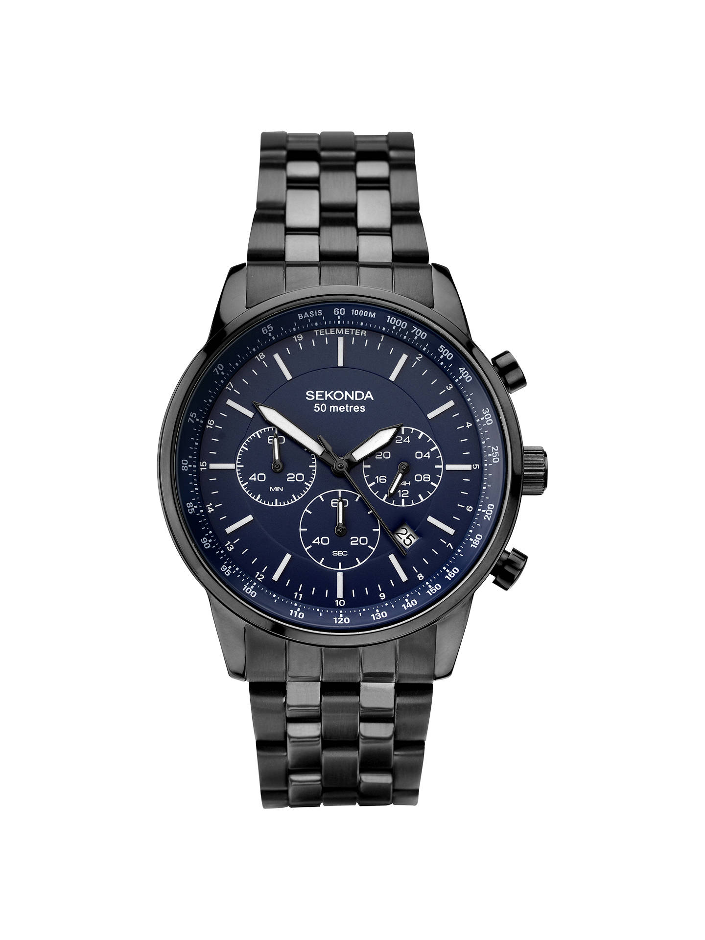 d6fcaf7a4d6d Buy Sekonda 1376.27 Men s Chronograph Date Bracelet Strap Watch