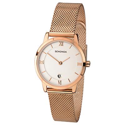 Sekonda Women's Date Mesh Bracelet Strap Watch