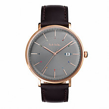 Buy Paul Smith Men's Track Date Leather Strap Watch Online at johnlewis.com