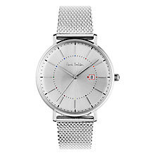 Buy Paul Smith PS0070003 Men's Track Date Bracelet Strap Watch, Silver Online at johnlewis.com