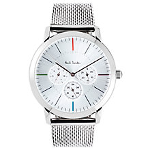 Buy Paul Smith P10111 Men's Ma Bracelet Strap Watch, Silver Online at johnlewis.com