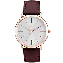 Buy Paul Smith Men's Ma Leather Strap Watch Online at johnlewis.com