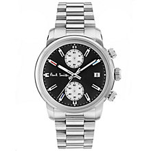 Buy Paul Smith P10033 Men's Block Chronograph Date Bracelet Strap Watch, Silver/Black Online at johnlewis.com