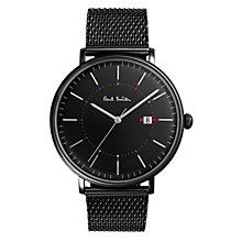 Buy Paul Smith Men's Track Date Mesh Bracelet Strap Watch Online at johnlewis.com