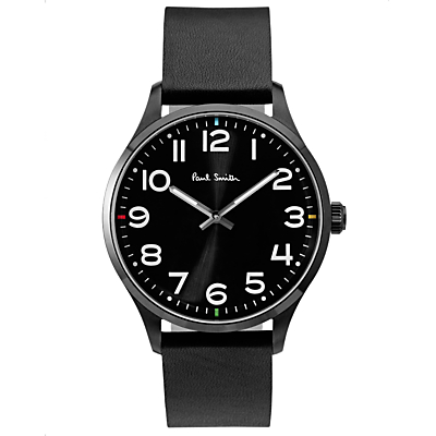 Paul Smith Men's Tempo Leather Strap Watch
