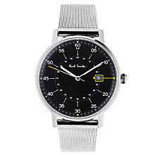 Buy Paul Smith P10131 Men's Gauge Date Bracelet Strap Watch, Silver/Black Online at johnlewis.com