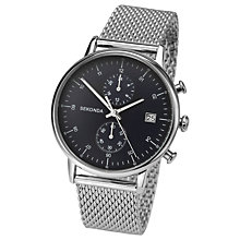Buy Sekonda 1195.27 Men's Chronograph Date Bracelet Strap Watch, Silver/Black Online at johnlewis.com