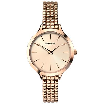 Sekonda 2478.27 Women's Bracelet Strap Watch, Rose Gold