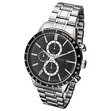 Buy Sekonda 1375.27 Men's Date Chronograph Bracelet Strap Watch, Silver/Black Online at johnlewis.com