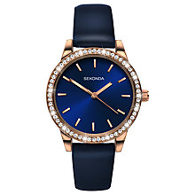 Buy Sekonda Women's Crystal Leather Look Strap Watch Online at johnlewis.com