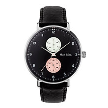 Buy Paul Smith Men's Track Leather Strap Watch Online at johnlewis.com