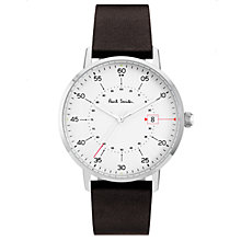 Buy Paul Smith Men's Gauge Date Leather Strap Watch Online at johnlewis.com