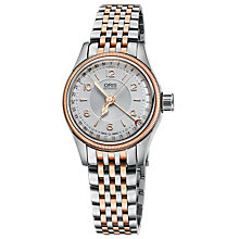 Buy Oris 01 594 7695 4361-07 8 14 32 Women's Big Crown Pointer Date Bracelet Strap Watch, Silver/Rose Gold Online at johnlewis.com