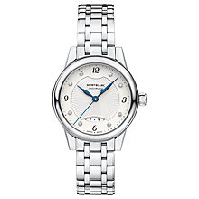 Buy Montblanc 116498 Women's Boheme Automatic Diamond Date Bracelet Strap Watch, Silver Online at johnlewis.com